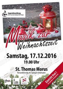 Musik zur Weihnachtszeit am 17. Dezember in Heumaden